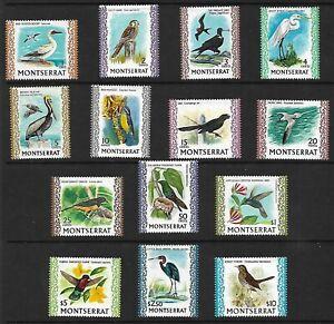 MONTSERRAT Postage Stamps 1970 Birds Set SG 242/54 Mounted Mint