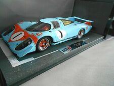 PORSCHE 917 Langheck Presentation Le Mans Genf Motor Show 1969 Gulf Res BBR 1:18