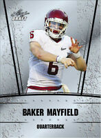 """BAKER MAYFIELD 2018 LEAF DRAFT """"SILVER EDITION"""" ROOKIE CARD! NFL #1 PICK!"""
