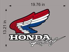 "Honda Racing Logo USA / 20"" Vinyl Vehicle Motorcycle Graphic Decal Sticker"