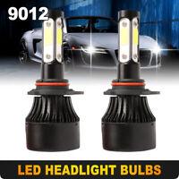 9012 4-sides LED Headlights Conversion Kit 2400W 360000LM Fog Lamp Bulb 6000K US