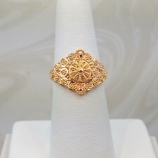 GOLDSHINE 22K Solid Yellow Gold RING Size 6.75 US/Canada Handcrafted Hallmarked