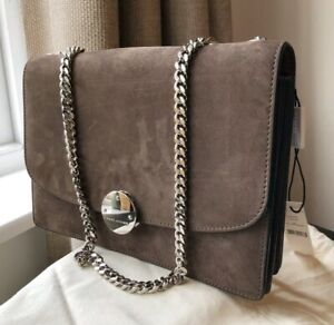 """Genuine Marc Jacobs Brown Suede Leather """"Trouble"""" Double Chain Shoulder Bag 🇬🇧"""