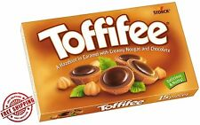 TOFFIFEE - HAZELNUT IN CARAMEL WITH NOUGAT & CHOCOLATE 125g BOX made in GERMANY