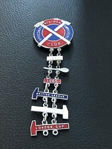 West Ham Speedway Badge 1984 - Silver