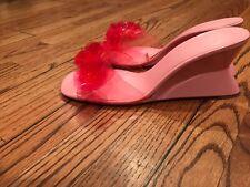Pink Transparent Flower Summer Slides US 9 Eu 40