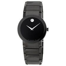 New Movado Sapphire PVD Black Bracelet Mens Watch 0606307