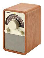 Sangean WR15WL AM/FM Table Top Wooden Radio Walnut NEW