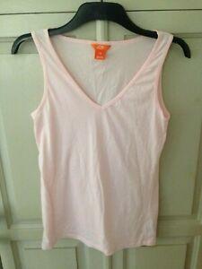 SALE Women's pale pink sleeveless V-neck tank top active wear, Joe Fresh, Large