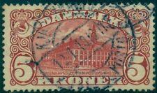 Denmark #82v (120v2) 5kr Gpo, KjobFnhagen Error, used, Vf, Scott $500.00