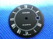 Cadran de montre Zifferblatt Watch Dial CIMIER Quartz Swiss Made Black Lapanouse