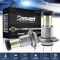1 Pair H7 30000LM 55W LED Headlight 6000K Beam Replace Xenon Halogen Globe Chips