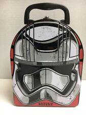 STAR WARS Force Awakens  Lunch Box Captain Phasma Embossed Metal Tin Box New