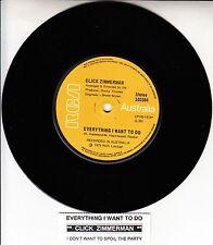 "CLICK ZIMMERMAN  Everything I Want To Do 7"" 45 record NEW + juke box strip RARE!"