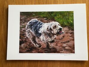 SALE Basset Griffon Vendeen - Grand Signed Dog Print by Susan Harper Unmounted