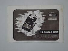 advertising Pubblicità 1942 MACCHINA PER SCRIVERE TOTALIA LAGOMARSINO