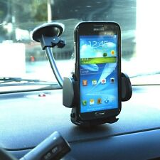 Universal windshield cell phone mount holder with suction cup and wide grip