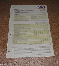 Inspektionsblatt Yamaha XT 600 K Typ 3UW (20 KW) Baujahr 1993