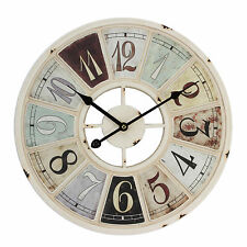 LARGE RETRO / ART DECO METAL WALL CLOCK. NEW AND BOXED.