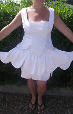 white flower fairy fully lined quality  ladies12-14  fantasy