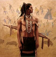 James Bama HERITAGE, Native American, Ute, Anniversary Giclee Canvas #78/78