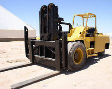 40,000 lb. Gerlinger Forklift; Low Mast; Pneumatic Tires; Riggers Boom