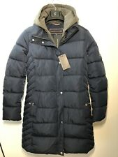 Tommy Hilfiger Winter Jacket Long Coat Navy Blue Women's Size S Brand New