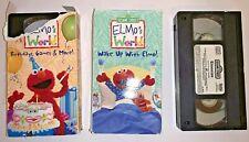 New listing SESAME STREET ELMO'S WORLD VHS LOT BIRTHDAY GAMES-WAKE UP WITH ELMO-ELMOCIZE