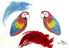 SP.ORDER~ Labors of Love 2 sided Scarlet & Blue Macaw Bird HP Needlepoint Canvas