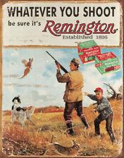 Tin Sign Tsn1412 Remington Whatever You Shoot Nostalgic Emobssed Tin Signs Al