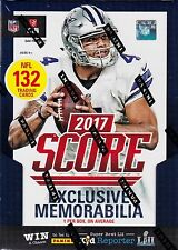 2017 Score Football sealed blaster box 11 packs of 12 NFL cards 1 memorabilia