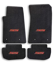 2010-2015 Chevrolet Camaro 4pc Black Carpet Floor Mats with Red SS Logo