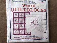 """2 Pkgs. of 6 (total 12) QUILT BLOCKS to Embroider: Sunbonnet Girl Blocks 18""""x18"""""""
