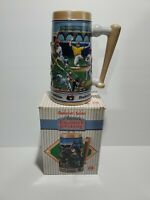 Vintage Budweiser Salutes America's Favorite Pastime Limited Edition Stein 1990