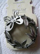 Yankee Candle Silver Leaves Raised Butterfly Leaves Illuma Lid Topper FREE Ship