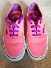 Kids Vans pink trainers shoes UK 4/4.5. Good Condition