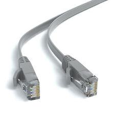 20m CAT 6 Flachkabel Patchkabel Netzwerkkabel Ethernet LAN Kabel - Grau
