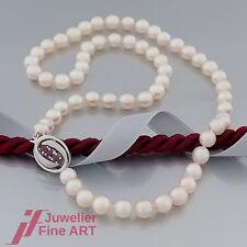 Perlenkette - Akoya-Perlen -14K/585 Weißgold - Schließe mit Rubinen (Rubin)