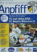 Programm 2000/01 FC Carl Zeiss Jena - Bayern München Am.