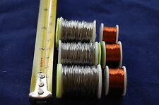 3x bobine fil de plomb & cuivre ,LIAGE MOUCHE , PÊCHE À LA ,vinaigrette voler