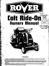Rover Colt 7344-7347-73113 Owners Manual, Colt 5 8 Owners & Parts, & 7313  on CD