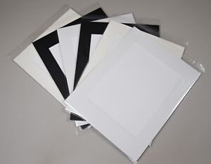 """100x Professional Picture Framing Mat Boards 11x14"""" with 8x10"""" Window Mount Kits"""