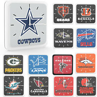 New 3 in 1 NFL PICK YOUR TEAMS Home Office Room Decor Wall Desk Magnet Clock 6""