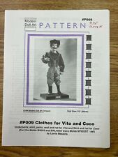 Clothes for Vito and Coco Modern Doll Art Vintage Pattern #P009