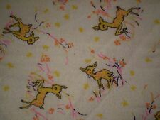 Vintage DEER Themed Flannel Fabric (92cm x 94cm)