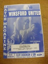 13/01/1993 Winsford United v Chorley  . Unless previously listed in brackets thi