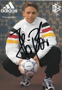 DFB Team Original Signed Autograph Card Thomas Häßler World Cup 1990