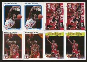 Lot of 13 1991-92 NBA Hoops Michael Jordan Cards All-Star MVP Bulls Milestones
