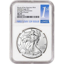 2020 (S) American Silver Eagle - NGC MS70 First Day Issue 1st Label