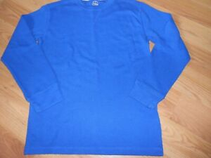 Boys Faded Glory Blue Long Sleeve Thermal top 10/12